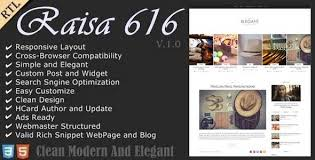 Modern Website Templates Fascinating Raisa An Elegant Responsive Blogger Theme By Anarchyta ThemeForest