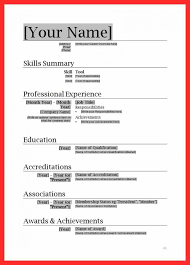 Simple Resume Format Delectable Basic Format For Resume Bire60andwap