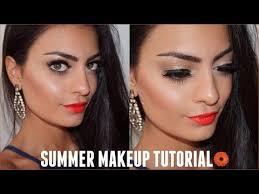 fresh glowing skin bright lips summer makeup tutorial 2016 you