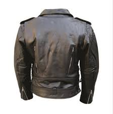 men s m c buffalo hide leather motorcycle jacket w vented front and back zipout liner and full belt al 2072 40
