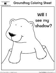 Small Picture Groundhog Day Coloring Sheet Will I See My Shadow A to Z