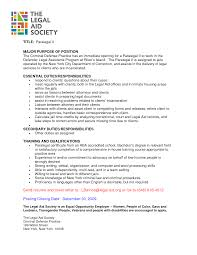 Sample Paralegal Cover Letter With Experience Cover Letter The