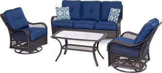 hanover patio furniture. Hanover Orleans 4 Piece Outdoor Conversation Set With Swivel Glider Chairs Patio Furniture