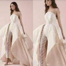 2018 Designer Gown High Quality Designer Wedding Dress 2018 Lace Strapless Appliqued Wedding Dresses Custom Made Long Women Jumpsuits Gown For Wedding Gowns For Wedding