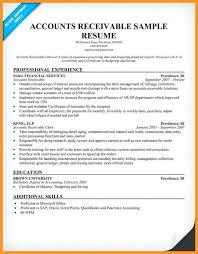 Sample Resume For Accounts Receivable Professional Accounts Payable