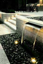 water fountain kits lawn backyard waterfall decor with gravel and pictures outdoor rock designs on charming