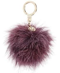 Fur Keychain Designer Kate Spade New York Feather Pom Pom Keychain Fur Keychain