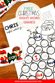 Free Printable Christmas Sight Word Games Your Kids will Fight Over!