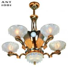 french art deco petitot chandelier ant 1001