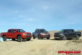 2016 Mid-Size Truck Shootout Toyota Tacoma, GMC Canyon, Nissan ...
