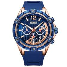 MEGIR 2083G <b>Men's Watch Sports Multifunction</b> Calendar ...