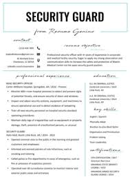 Security Supervisor Cover Letter Security Guard Cover Letter Resume Genius