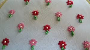 Small Buti Design Hand Embroidery Of Small Flower Design For Allover