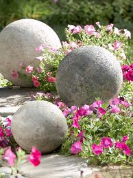 Stone Ball Garden Decoration Adorable Cast In Stone DIY Landscape Accent Better Homes Gardens