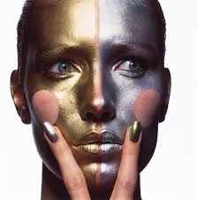 gold and silver make up b new york 1985 dye transfer