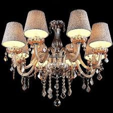 dining room pendant lamp ceiling candle crystal chandelier 8 light head shades