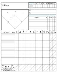 Little League Roster Template Softball Baseball Free Printable Score Sheet Template