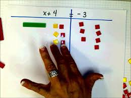 scc math 205 one step addition equations with algebra tiles 2