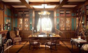 classic home office. Masculine Home Office Classic Design Elegant H