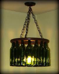 wine bottle diy chandelier