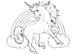 Printable Unicorn Rainbow Coloring Pages Brite Colouring Fish Page
