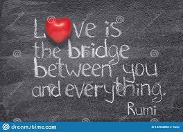 Love Bridge Rumi Stock Photo Image Of Inspiration Citation 137646660