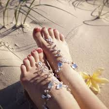 Eden Barefoot Sandals   Bare foot sandals, Foot jewelry, Jeweled ...