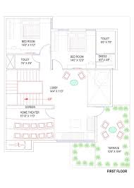 40x50 east facing house plan with elevation g 1