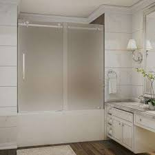 completely frameless sliding tub