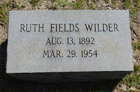 Ruth Fields Wilder (1892-1954) - Find A Grave Memorial