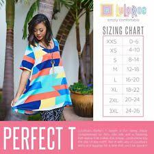 Classic Tee Lularoe Size Chart Xs Lularoe Perfect Tee Regular Size Tops Blouses For Women