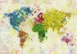 adventure painting world map painting by setsiri silapasuwanchai