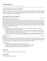 Retail Visual Merchandising Manager Resume Professional Resume