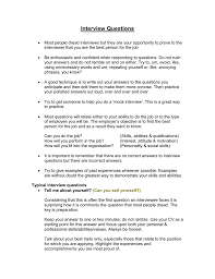 Skills Relevant To The Position S You Are Applying For Client Interview Questions Handout