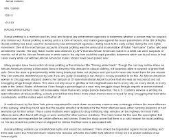 profiling racial essay profiling racial