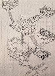 Oc I Saw The Isometric Dungeon Post And Printed Off A Graph And
