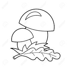 Vettoriale Coloring Page Schema Di Funghi Dei Cartoni Animati