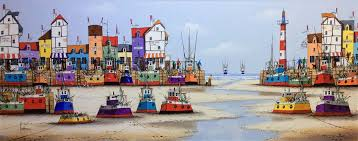 ken hammond artist marine art and quirky art coastal paintings and harbour paintings