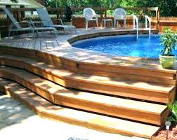 Above Ground Oval Pool Deck Plan Plans