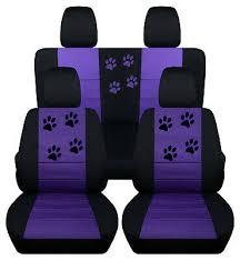 front rear black purple car seat