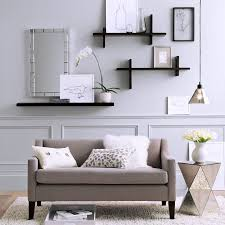 ... Living Room, Kitchen Wall Shelf Ideas Floating Shelves In Living Room:  Stylish Living Room ...