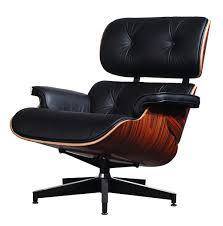 Eames Lounge Chair Traditionell Schwarz Leder Palisander Holz