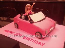 Coolest Barbies Car Birthday Cake