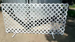 vinyl lattice fence panels. Lattice Panels Plastic Vinyl Fence Install