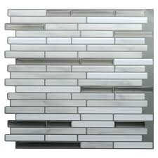 grey stick on wall tiles l and stick wall tile white grey marble mosaic self adhesive kitchen bathroom home wall decal sticker vinyl in wall stickers