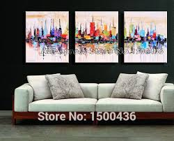 hand painted abstract wall picture painting oil art 4 piece modern canvas decoration home setus 132 00 set  on 6 piece wall art set with 2018 hand painted city canvas art oil painting abstract new york