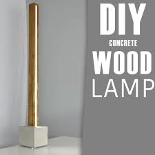 picture of diy concrete and wood led floor lamp