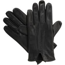 signature men s smartouch smooth leather gloves