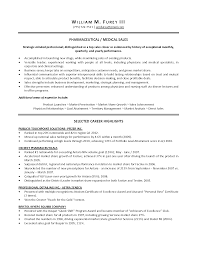 Medical Sales Representative Resume Objective Sidemcicek Com