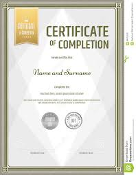 templates for certificates of completion certificate certificate of completion template